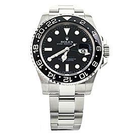 Rolex GMT Master II Stainless Steel Black Dial on Bracelet 40mm 116710 Full Set