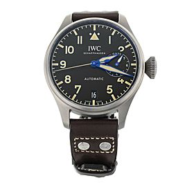 IWC Big Pilot's Watch Heritage Titanium Black Dial Calf Strap 46mm IW501004 Ful