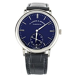 A.Lange & Sohne Saxonia Automatic Blue Dial White Gold 38.5mm 380.028 Full Set