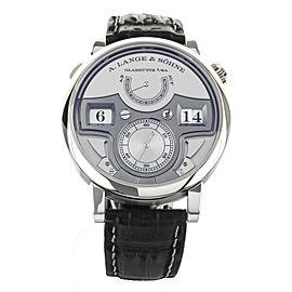 A.Lange & Sohne Zeitwerk Minute Repeater Silver Platinum 44mm 147.025F Full Set