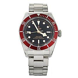 TUDOR HERITAGE BLACK BAY RED STAINLESS STEEL ON BRACELET 41MM M79230R FULL SET