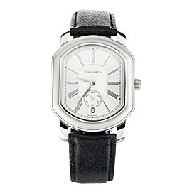 Tiffany & Co. Mark Coupe Stainless Steel Silver Dial on Calf Quartz 32x37mm