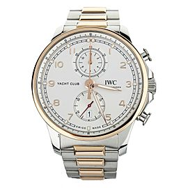 IWC Portuguese Yacht Club Stainless Steel Rose Gold 44mm IW390703 Full Set