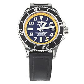 Breitling Superocean Stainless Steel Black Dial Rubber 42mm A17364 Full Set