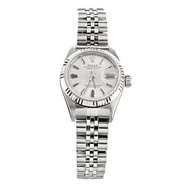 Rolex Lady Datejust Stainless Steel Silver Sapphire Markers 26mm 79174 Full Set