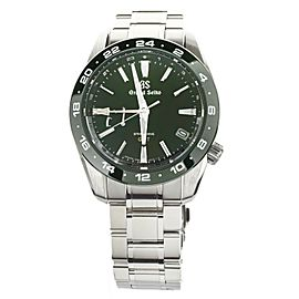GRAND SEIKO SPRING DRIVE GREEN DIAL SBGE257 40MM STAINLESS STEEL FULL SET