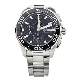 Tag Heuer Aquaracer Chronograph Black Dial Stainless Steel 43mm Cay211A-0