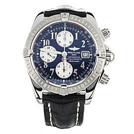 Breitling Chronomat Evolution Blue Dial Stainless Steel 43mm A13356 Full Set