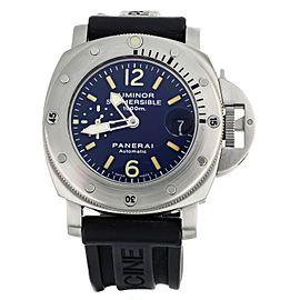 Panerai Luminor Submersible 1000m La Bomba 44mm PAM 87 Stainless Steel Blue Dial