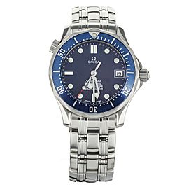 Omega Seamaster 300m Blue Dial Stainless Steel Bracelet 36mm 25518000 Full Set