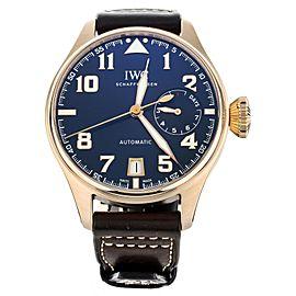 IWC Big Pilot's watch Le Petit Prince Blue Dial Rose Gold 46mm IW500909 Full Set