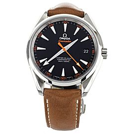 Omega Seamaster Aqua Terra Stainless Steel Black Dial Leather Strap 41mm 2311242