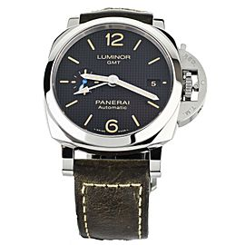 Panerai Luminor GMT PAM1535 42mm stainless steel Calf Strap Hobnail Dial