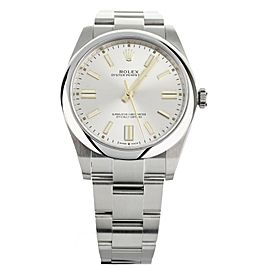 Rolex Oyster Perpetual stainless steel Silver Dial124300 41mm full set