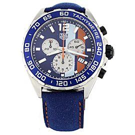 Tag Heuer Formula 1 Gulf Blue Dial Chronograph 43mm CAZ101N Full Set
