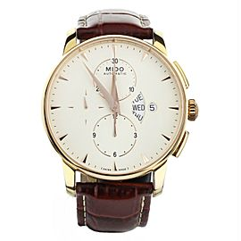 Mido Baroncelli Chronograph Day Date Automatic Yellow Gold Plated 43mm