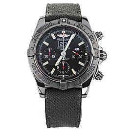 Breitling Chronomat Blackbird PVD Stainless Steel Chronograph 44mm M4435 Full