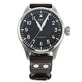 IWC Big Pilot's Watch 43 Stainless Steel Black Dial 43mm IW329301 Full Set
