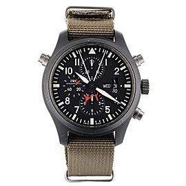 IWC Pilot's Watch Double Chronograph Top Gun Ceramic on Nato 46mm IW379901