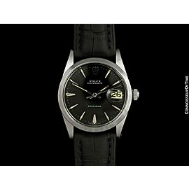 1968 ROLEX OYSTERDATE Mens Vintage Stainless Steel Watch,