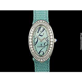 CORUM OVALE Ladies SS Steel & Diamond Watch - $6,650, Near NOS -