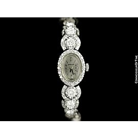 1960's Vintage Ladies Watch with Omega Movement - 14K White Gold and Diamonds