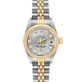 Rolex Datejust Steel Yellow Gold Anniversary Diamond Dial Ladies Watch 69173