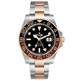 Rolex GMT Master II Steel Everose Gold Mens Watch 126711 Box Papers