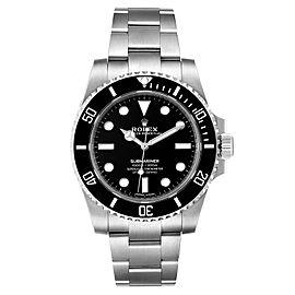 Rolex Submariner 40mm Ceramic Bezel Steel Watch 114060 Box Card
