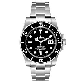 Rolex Submariner Ceramic Bezel Steel Mens Watch 116610 Box Card