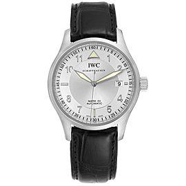 IWC Mark XV Spitfire Silver Dial Black Strap Steel Mens Watch IW325313