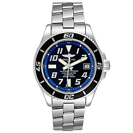 Breitling Superocean 42 Abyss Black Blue Dial Steel Mens Watch A17364