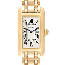 Cartier Tank Americaine 18K Yellow Gold Ladies Watch W26015K2