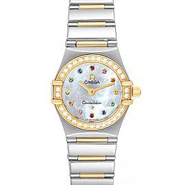 Omega Constellation Iris Steel Yellow Gold Multi Stone Watch 1365.79.00