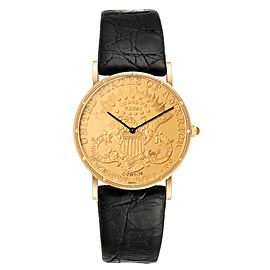 Corum 20 Dollars Double Eagle Yellow Gold Coin Year 1878 Mens Watch