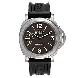 Panerai Luminor Marina 45mm Titanium Mens Watch PAM00061 Box Papers