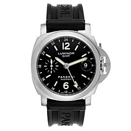 Panerai Luminor GMT 40mm Steel Mens Watch PAM00244 Box Papers