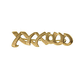 "Tiffany & Co Paloma Picasso ""XO"" Signature Yellow Gold Brooch"
