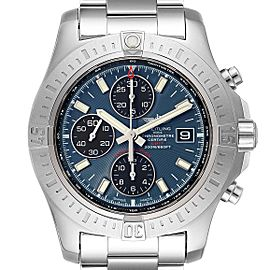 Breitling Colt Blue Dial Automatic Chronograph Steel Mens Watch A13388 Box Paper