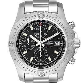 Breitling Colt Black Dial Stainless Steel Mens Watch A13388 Box Papers