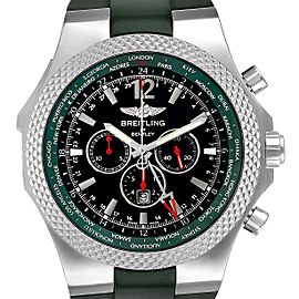 Breitling Bentley GMT Green Strap Limited Edition Watch A47362 Box Papers