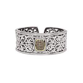 Charles Krypell 5-6657-SBRP Sterling Silver Cognac & White Diamonds Bracelet