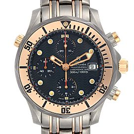 Omega Seamaster 41mm Titanium 18K Rose Gold Mens Watch 2296.80.00