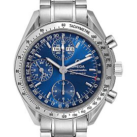 Omega Speedmaster Day-Date Blue Dial Mens Watch 3523.80.00 Card