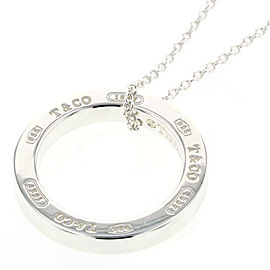 TIFFANY & Co Silver925 1837 Circle Necklace TBRK-385