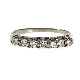 14K White Gold Diamond Band Ring Size 5.75