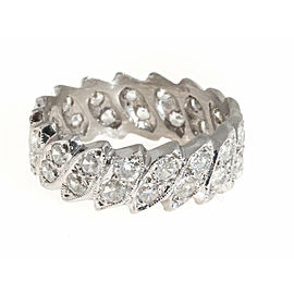 Platinum Diamond Eternity Ring Size 9.5
