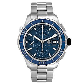 Tag Heuer Aquaracer Blue Dial Steel Mens Watch CAK2112 Box Card