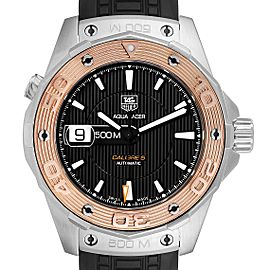 Tag Heuer Aquaracer 43mm Steel Rose Gold Mens Watch WAJ2150
