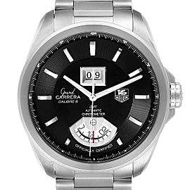 Tag Heuer Grand Carrera GMT Chronograph Mens Watch WAV5111 Box